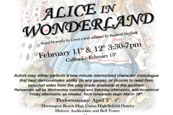 ALICE IN WONDERLAND AUDITIONS