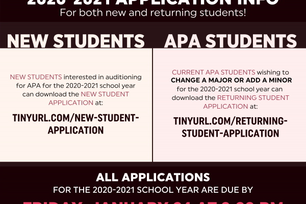 2020-2021 APPLICATION INFO